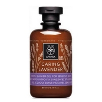 Apivita caring lavender delikatny żel pod prysznic do skóry wrażliwej z lawendą - hipoalergiczny 300ml - caring lavender