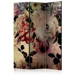 Parawan 3-częściowy - kwiaty nostalgii room dividers