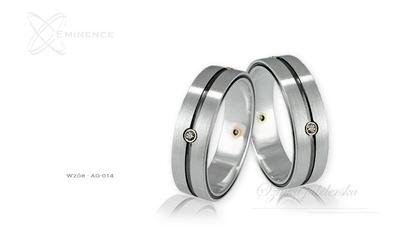 Obrączki srebrne - wzór ag-014