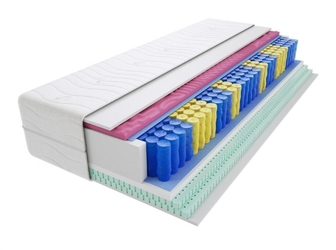 Materac kieszeniowy sparta molet max plus 195x210 cm średnio twardy 2x lateks