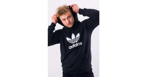 Adidas logo trefoil hoodie dt7964 m czarny