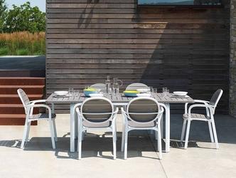 Zestaw mebli do ogrodu - rozkładany stół alloro 140-210 cm + 6 krzeseł palma
