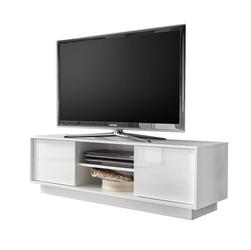 Biała szafka pod telewizor w wysokim połysku pure