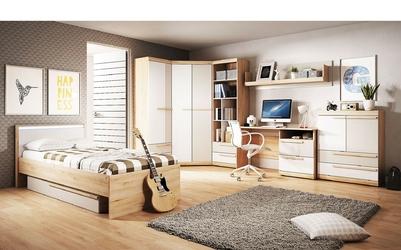 Łóżko z materacem 90x200 cm joy białebuk