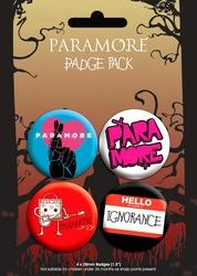 Paramore Logo - zestaw 4 przypinek