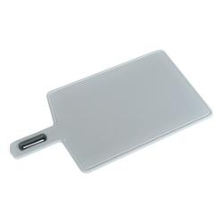 Deska do krojenia kuchenna z rączką practic vegana biała 26 x 18,5 cm