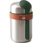 Termos obiadowy stalowy 400 ml black blum łyżka w kolorze oliwkowym bam-ff-s010