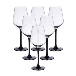 Kieliszki do wina białego altom design rubin black 290 ml, komplet 6 szt.