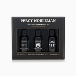Percy nobleman limited edition beard oil set - zestaw trzech olejków do brody