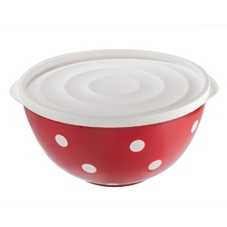 Salaterka  miska plastikowa z pokrywą dwukolorowa berossi 2,0 l czerwona