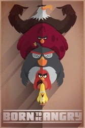 Angry birds born to be angry - plakat