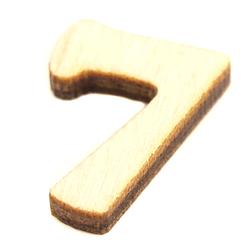 Drewniana cyfra mała 2 cm - 7 - 7