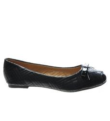 Pantofelek24.pl   czarne balerinki damskie z lakierowanymi noskami
