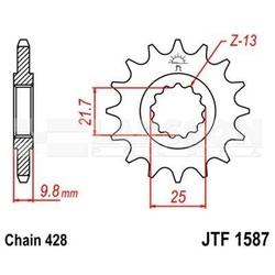 Zębatka przednia jt f1587-20, 20z, rozmiar 428 2200363 yamaha sr 500