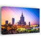 Kolorowa warszawa pałac kultury i nauki - obraz na płótnie wymiar do wyboru: 30x20 cm