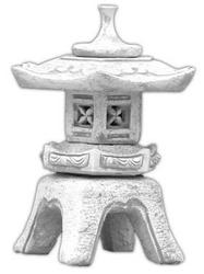 Lampa betonowa ogrodowa, wzór chiński domek 56cm