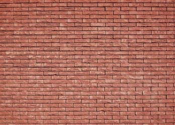Ściana z czerwonej cegły - fototapeta