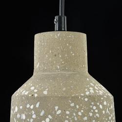 Mała, betonowa lampa wisząca do kuchni broni maytoni loft t438-pl-01-gr