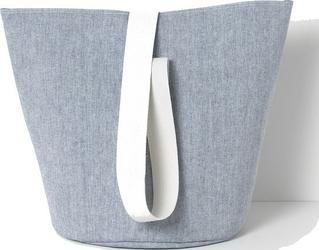 Kosz na pranie chambray 42 cm niebieski
