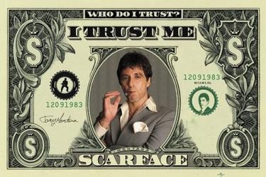 Scarface dollar - plakat