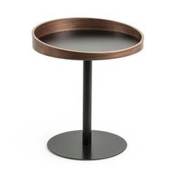 Drewniany stolik karlin 51x46 cm brązowy