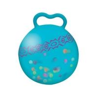 B.toys piłka do skakania ze świecącymi kulkami - niebieska, 3+