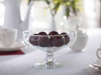 Patera na owoce  owocarka na nóżce szklana edwanex 20,5 cm