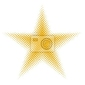 Naklejka półtonów gwiazda