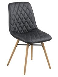 Krzesło lif black pu - szary