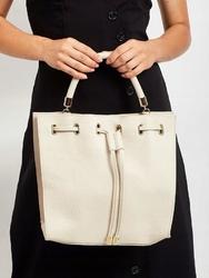 Torebka damska shopper bag skórzana rovicky beżowa - beż