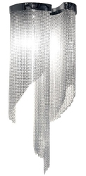 Kinkiet z ozdobnymi łańcuszkami atlanta wall