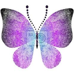 Naklejka motyl fantazji grungy rocznika