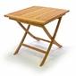 Divero stół ogrodowy z drewna tekowego 80 x 80 cm