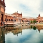 Fototapeta spanish square in sevilla, hiszpania