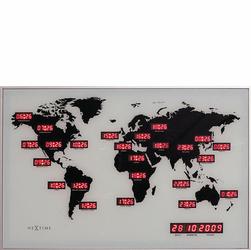 Zegar ścienny World Time Digit Nextime 2897