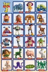 Toy story 3 grid  - plakat