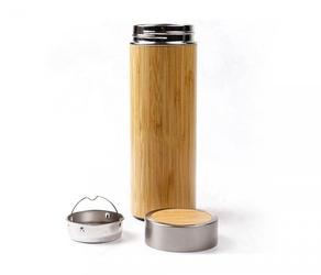 Termos z bambusa i stali 420 ml z zaparzaczem ambeo therm bambusowy