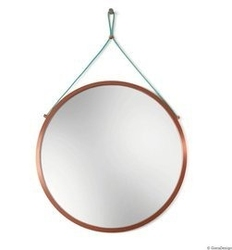 Gieradesign :: lustro wiszące scandi power mint okrągłe miedziane śr. 50