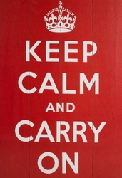 Keep Calm And Carry On - obraz na drewnie