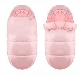 Śpiworek do wózka sanek gondola śpiwór 4w1 ciepły różowy