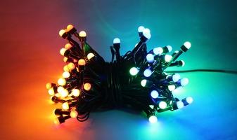 Lampki ogrodowe 100 led, mini żarówki kolorowe