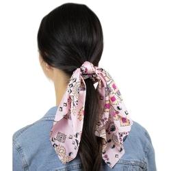 Gumka do włosów apaszka scrunchie różowa frotka