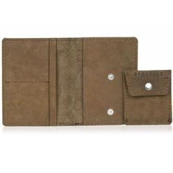 Skórzany cienki portfel slim wallet z bilonówką brodrene sw01+ jasnobrązowy - j. brązowy