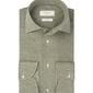 Zielona dzianinowa koszula profuomo slim fit 45