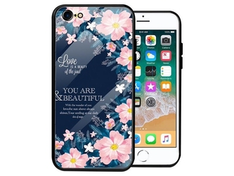 Etui alogy glass armor case do apple iphone 78se 2020 kwiaty + szkło alogy - kwiaty