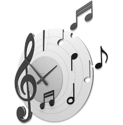 Zegar ścienny bellini calleadesign czarny, biały 51-10-3-5