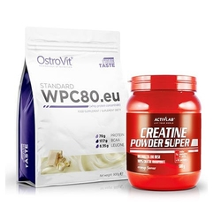 Wpc 80.eu standard 900 g + creatine powder - 500g - odżywka białkowa + kreatyna wysyłka 24h