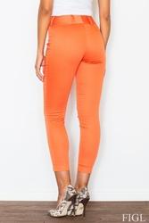Pomarańczowe dopasowane spodnie cygaretki