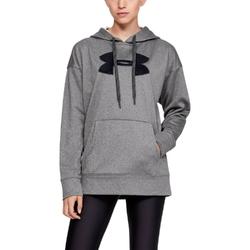 Bluza damska under armour synthetic fleece chenille logo po hoodie - szary