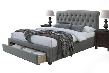 Łóżko z szufladą Bonita 160x200 popielate podwójne